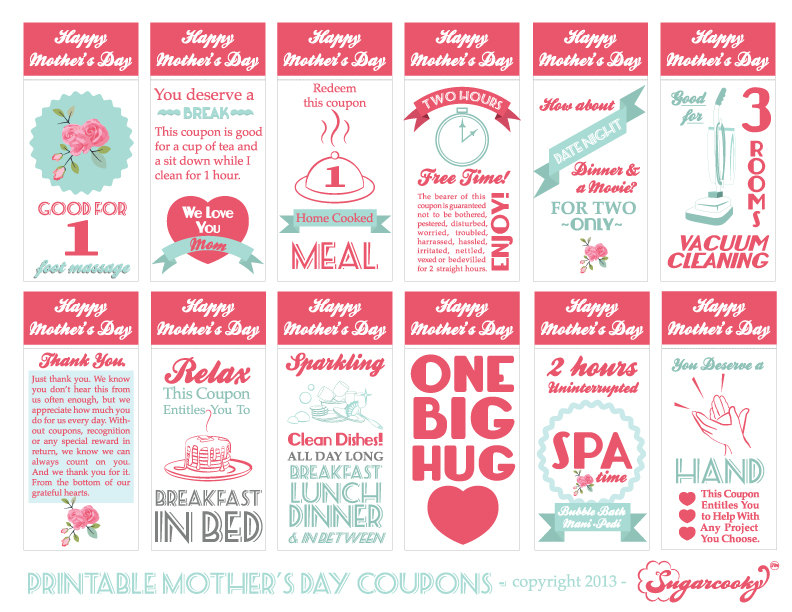 Mothers Day Kids Coupons Ideas